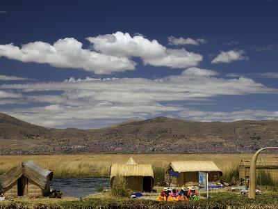 Floating Islands of Uros People, Traditional Reed Boats and Reed Houses, Lake Titicaca, Peru-Simon Montgomery-Photographic Print