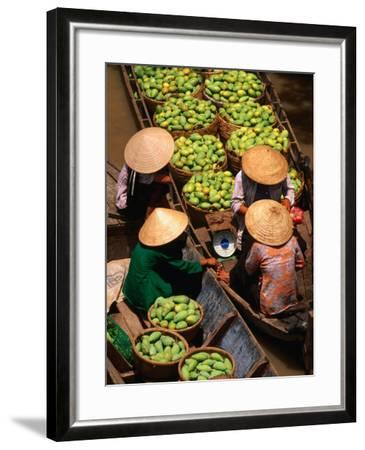 Floating Market along the Mekong Delta, an Giang, Vietnam-John Banagan-Framed Photographic Print