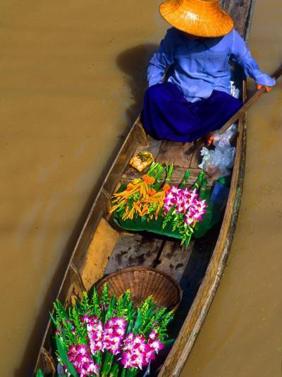 Floating Market, Damnern Saduak, Bangkok, Thailand-Bill Bachmann-Photographic Print