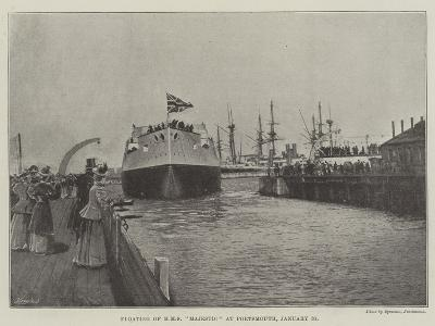 Floating of HMS Majestic at Portsmouth, 31 January--Giclee Print