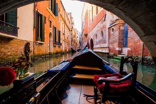 Floating on a Gondola, Venice, UNESCO World Heritage Site, Veneto, Italy, Europe-Laura Grier-Photographic Print