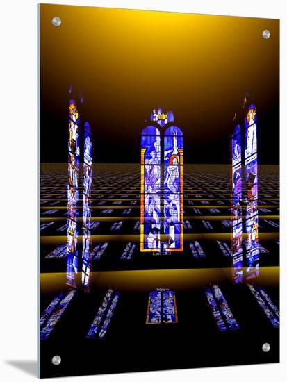 Floating Stained Glass Windows from Church- I.W.-Art on Acrylic