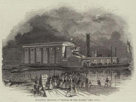 Floating Theatre, Temple of the Muses, New York--Giclee Print
