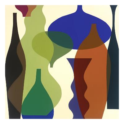 Floating Vases II-Mary Calkins-Premium Giclee Print