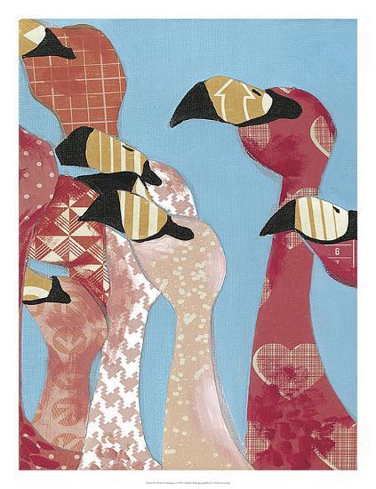 Flock of Flamingoes I-Jennifer Rutledge-Art Print