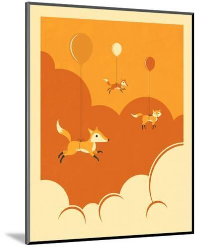 Flock of Foxes-Jazzberry Blue-Mounted Print
