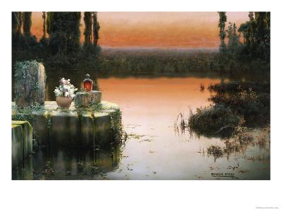 Flooded Ruins at Sunset-Enrique Serra-Giclee Print