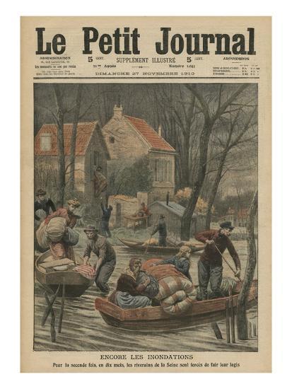 Floods Again, Illustration from 'Le Petit Journal', Supplement Illustre, 27th November 1910-French Photographer-Giclee Print