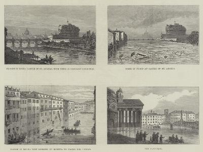 Floods in Rome--Giclee Print