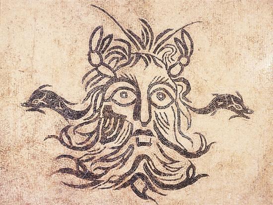Floor Mosaic Depicting God Oceanus, from Cividale Baths, Friuli Venezia Giulia--Giclee Print