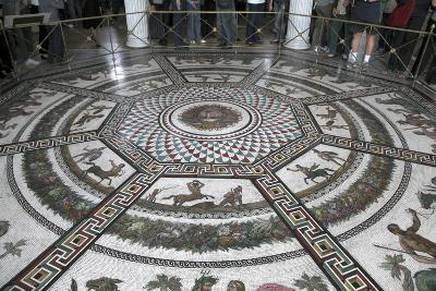 Floor Mosaic in the Pavilion Hall, State Hermitage Museum, St Petersburg, Russia, 1847-1851-Andrei Ivanovich Stakenschneider-Photographic Print