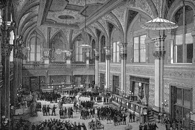 Floor of the New York Stock Exchange, 1885