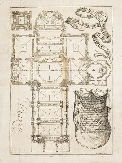 Floor Plan of Basilica of San Gaudenzio in Novara--Giclee Print