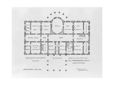 Floor Plan of the White House--Giclee Print