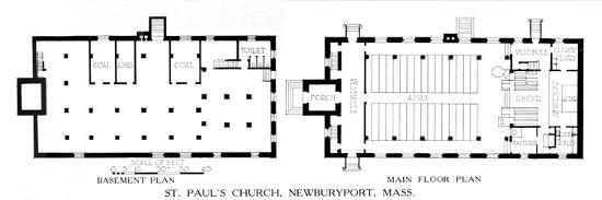 Floor plans, St Paul's Church, Newburyport, Massachusetts, 1924-Unknown-Giclee Print