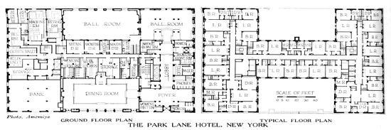 Floor plans, the Park Lane Hotel, New York City, 1924-Unknown-Giclee Print