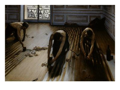 Floor Scrapers-Gustave Caillebotte-Giclee Print