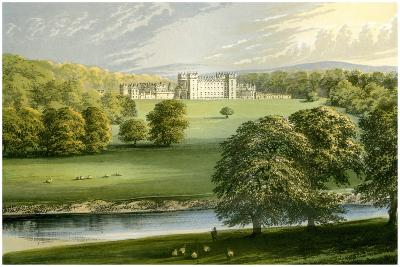 Floors Castle, Roxburghshire, Scotland, Duke of Roxburghe, C1880-Benjamin Fawcett-Giclee Print