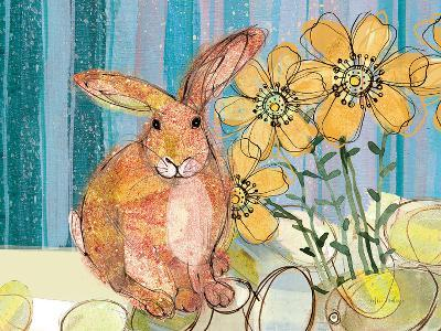 Floppy Bunny - Yellow Flowers-Robbin Rawlings-Art Print