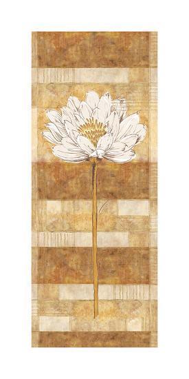 Flora Blanca II-Linda Wood-Art Print