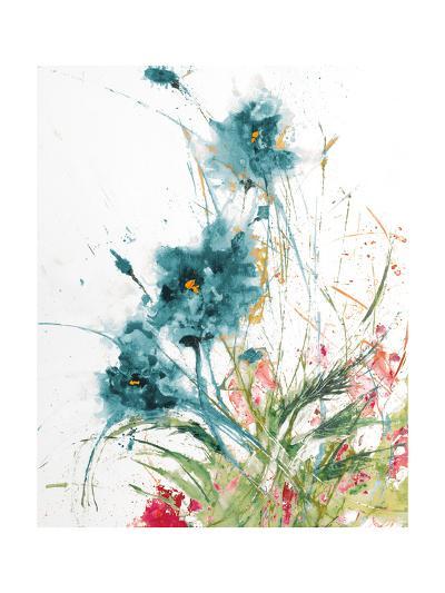 Flora Blue Crop on White-Jan Griggs-Art Print