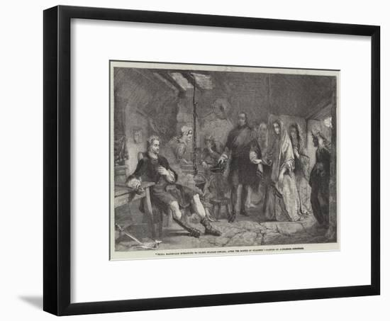 Flora Macdonald Introduced to Prince Charles Edward, after the Battle of Culloden-Alexander Johnston-Framed Giclee Print
