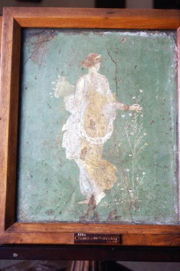 Flora or Primavera, Roman wall painting from Pompeii, c1st century-Unknown-Giclee Print