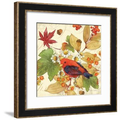 Flora & Tanager II-Julie Paton-Framed Art Print