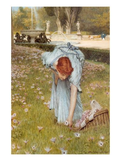 Flora-Sir Lawrence Alma-Tadema-Art Print