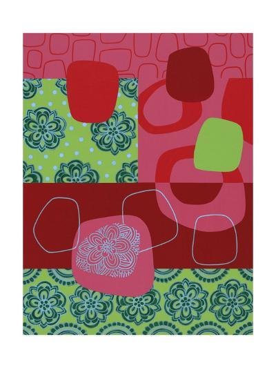 Floral and Abstract Geometric--Art Print