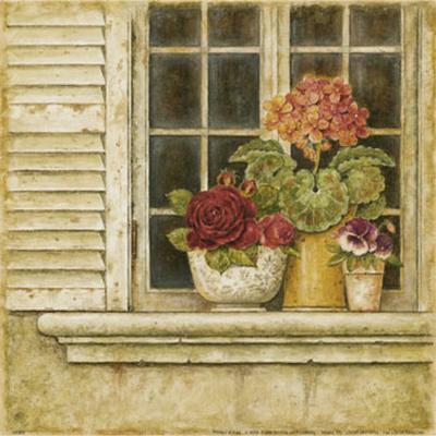 Floral Arrangement in Windowsill I-Herve Libaud-Art Print