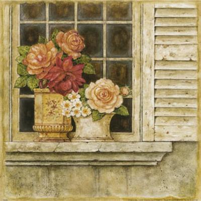 Floral Arrangement in Windowsill II-Herve Libaud-Art Print