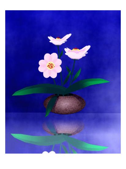 Floral Arrangement of Orchid in Vase Partly Reflected-Rich LaPenna-Giclee Print