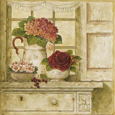 Floral Arrangement with Grapes II-Herve Libaud-Art Print