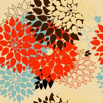 Floral Background. Summer Colour. Seamless Floral Pattern with Stylized Flower- bubusik-Art Print