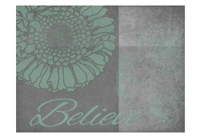 Floral Believe 6-Tina Carlson-Art Print