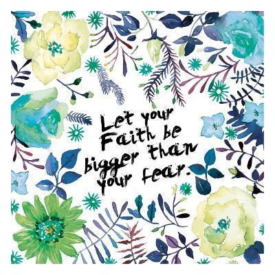 Floral Bigger Faith-Victoria Brown-Art Print
