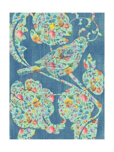 Floral Birds I-Chariklia Zarris-Art Print