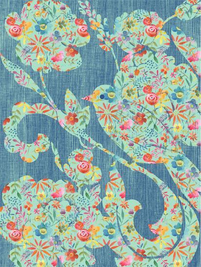 Floral Birds II-Chariklia Zarris-Art Print