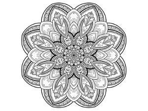 Floral Blossom Coloring Art
