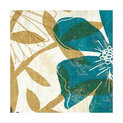 Floral Burst Square I--Art Print