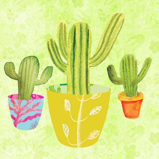 Floral Cacti Pots 2-Kristine Lombardi-Art Print