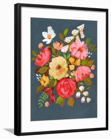 Floral Charcoal Ground-Sharon Montgomery-Framed Art Print