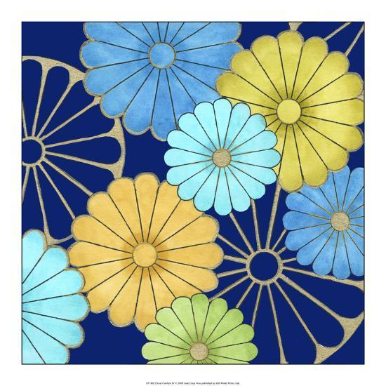 Floral Confetti IV-Erica J^ Vess-Art Print