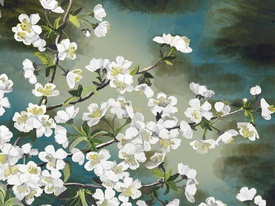 Floral - Copper-The Saturday Evening Post-Giclee Print
