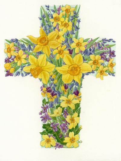 Floral Cross I, 1998-Linda Benton-Giclee Print
