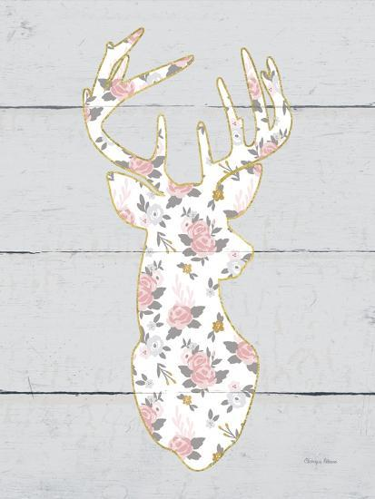 Floral Deer I-Cleonique Hilsaca-Premium Giclee Print