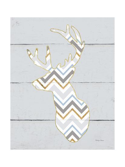 Floral Deer II Masculine-Cleonique Hilsaca-Art Print