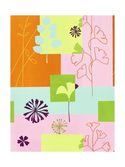 Floral Designs on Colors--Art Print