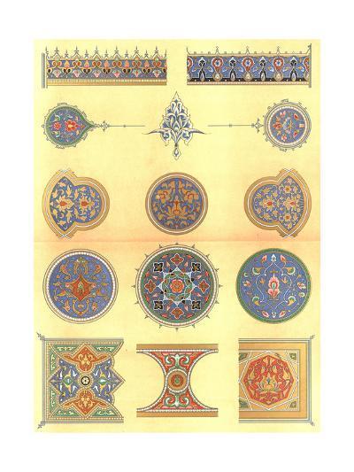 Floral Detailed Design Elements--Art Print